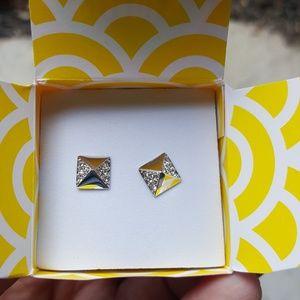 Origami Owl silver stud earrings